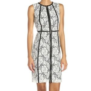 Calvin Klein Lace Dress sheath zip up dress